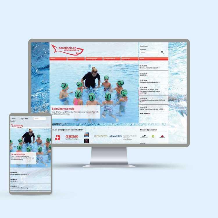 Schwimmclub Aarefisch Website