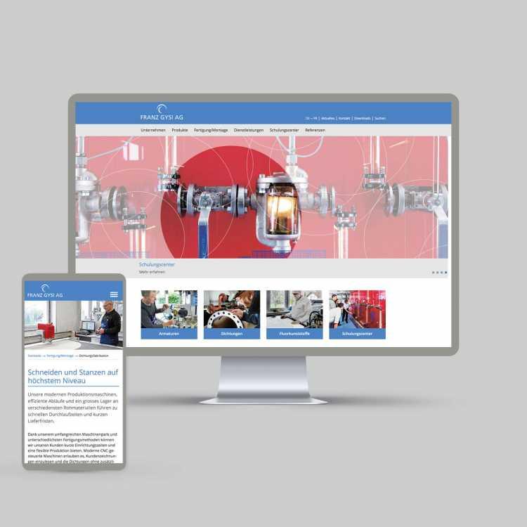 Franz Gysi AG: Redesign Website