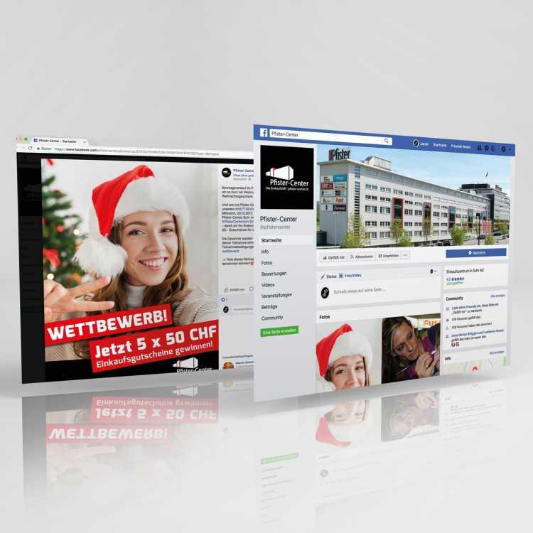 Pfister-Center Suhr: Social Media Management, Facebook