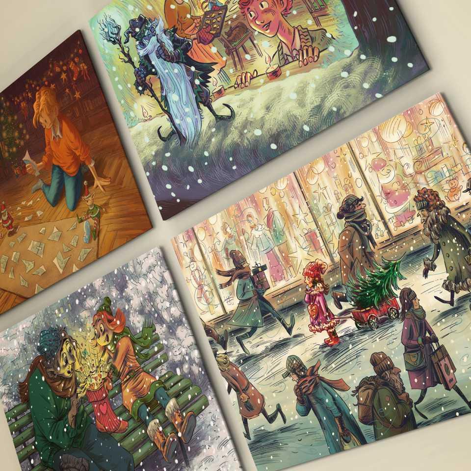Weihnachts- und Neujahrskarten Gutzwiller Kommunikation