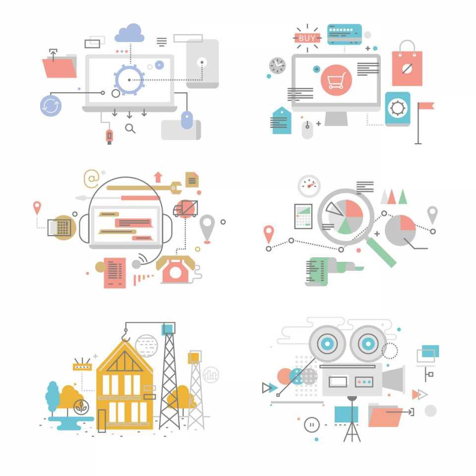 Econis AG Bildkonzept Illustrationen