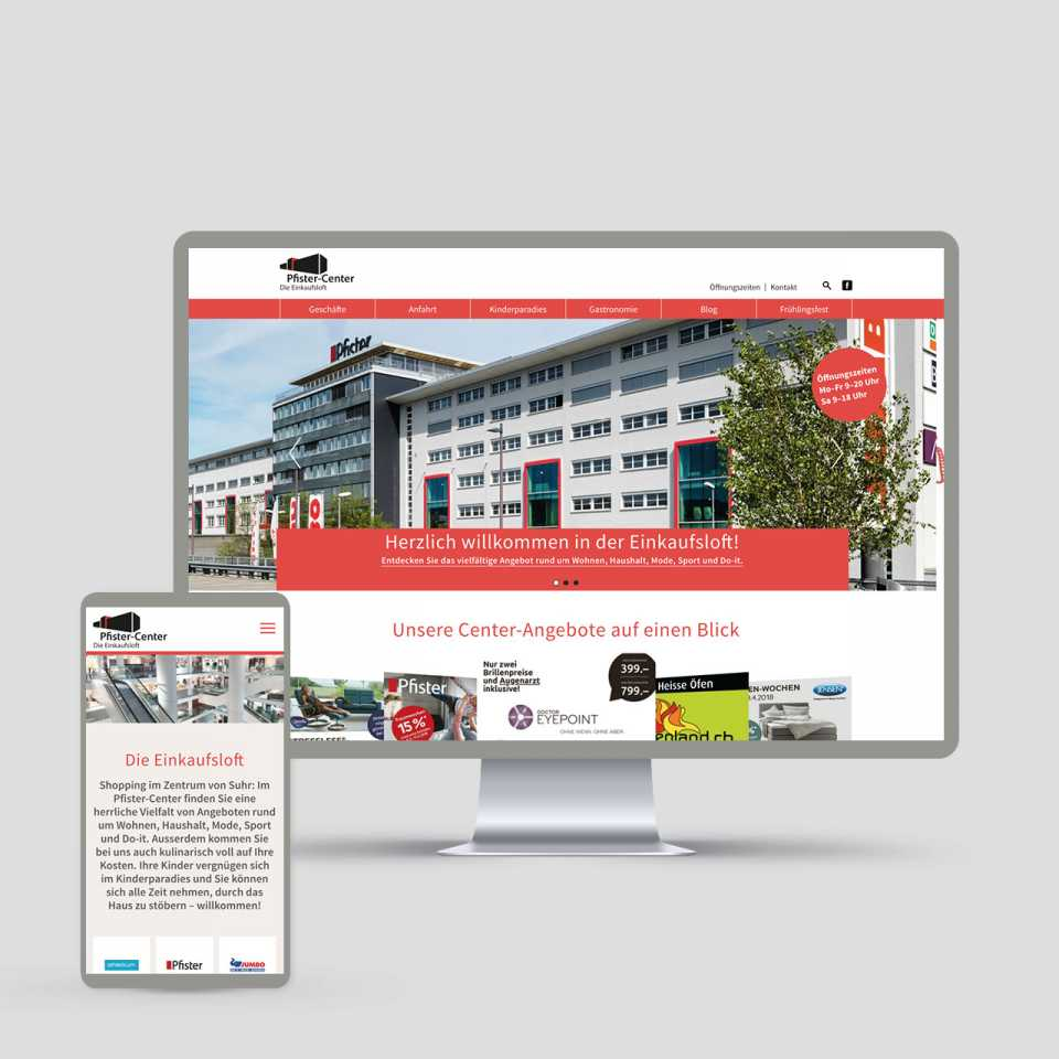 Pfister-Center Suhr: Redesign Website