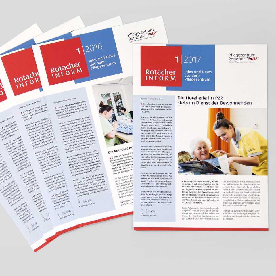 Pflegezentrum Rotacher: Mitarbeiter- und Kundenmagazin, Rotacher Inform