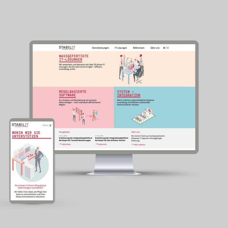STABILIT Informatik AG, Redesign Website