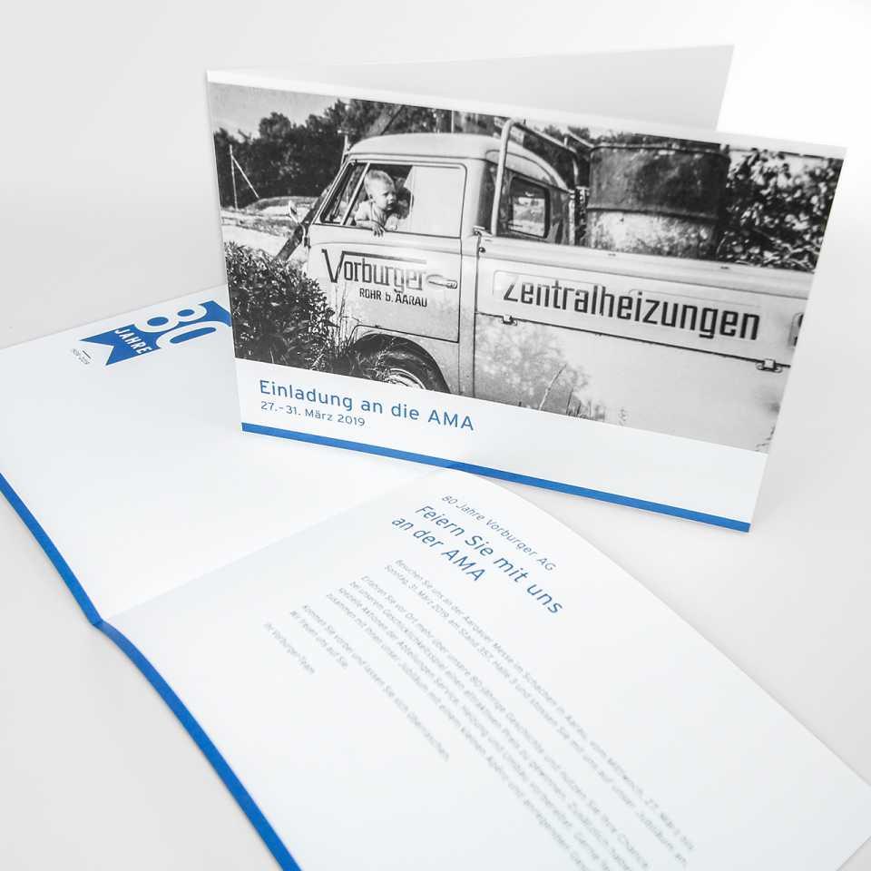 Vorburger AG, Einladung