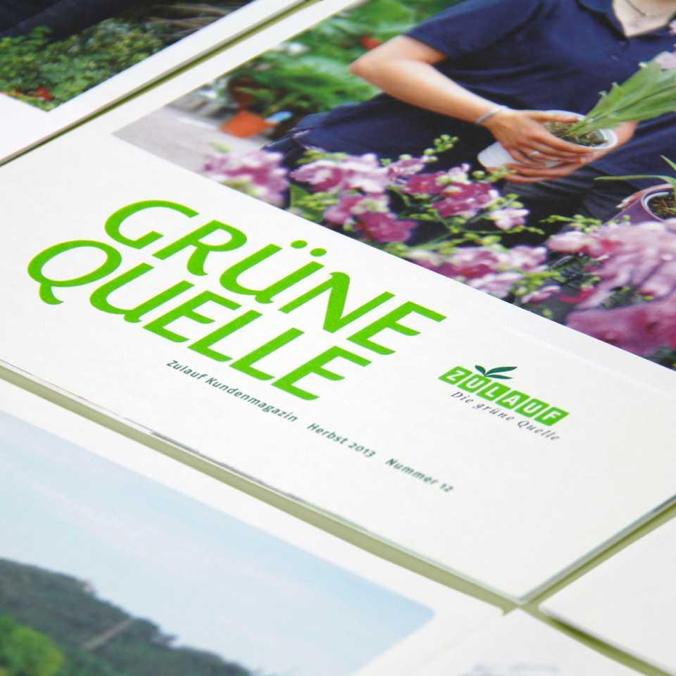 Zulauf AG: Kundenmagazin «Grüne Quelle»