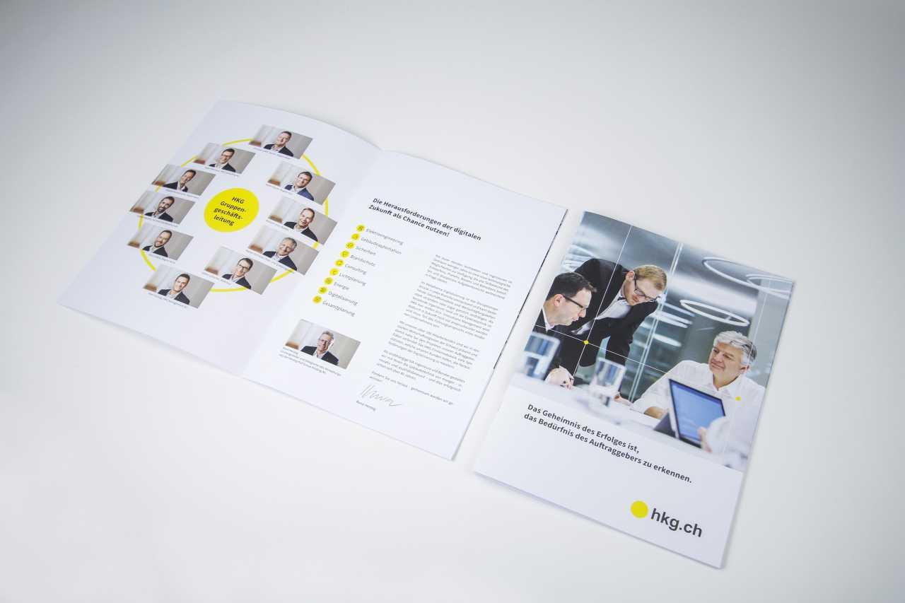 Inhalt Unternehmenbroschüre hkg.ch