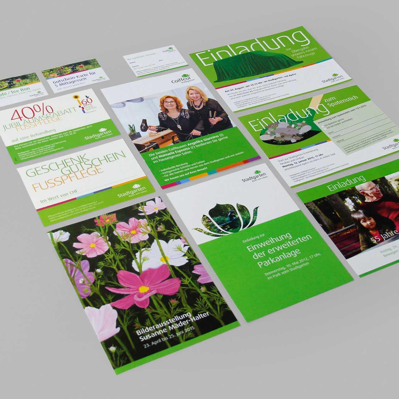 Pflegezentrum Stadtgarten: Diverse Printprodukte, Prospekte