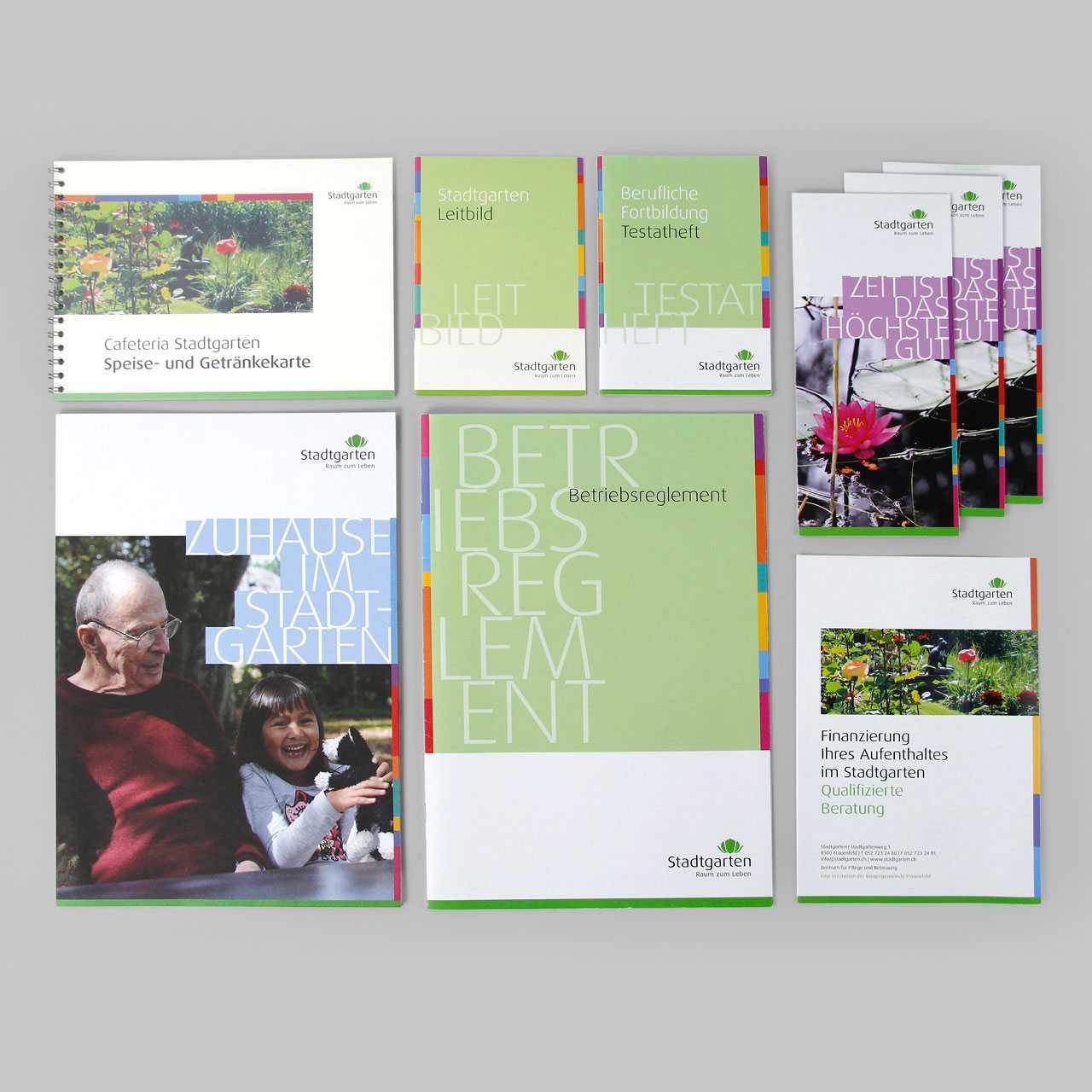 Pflegezentrum Stadtgarten: Corporate Design, Prospekte