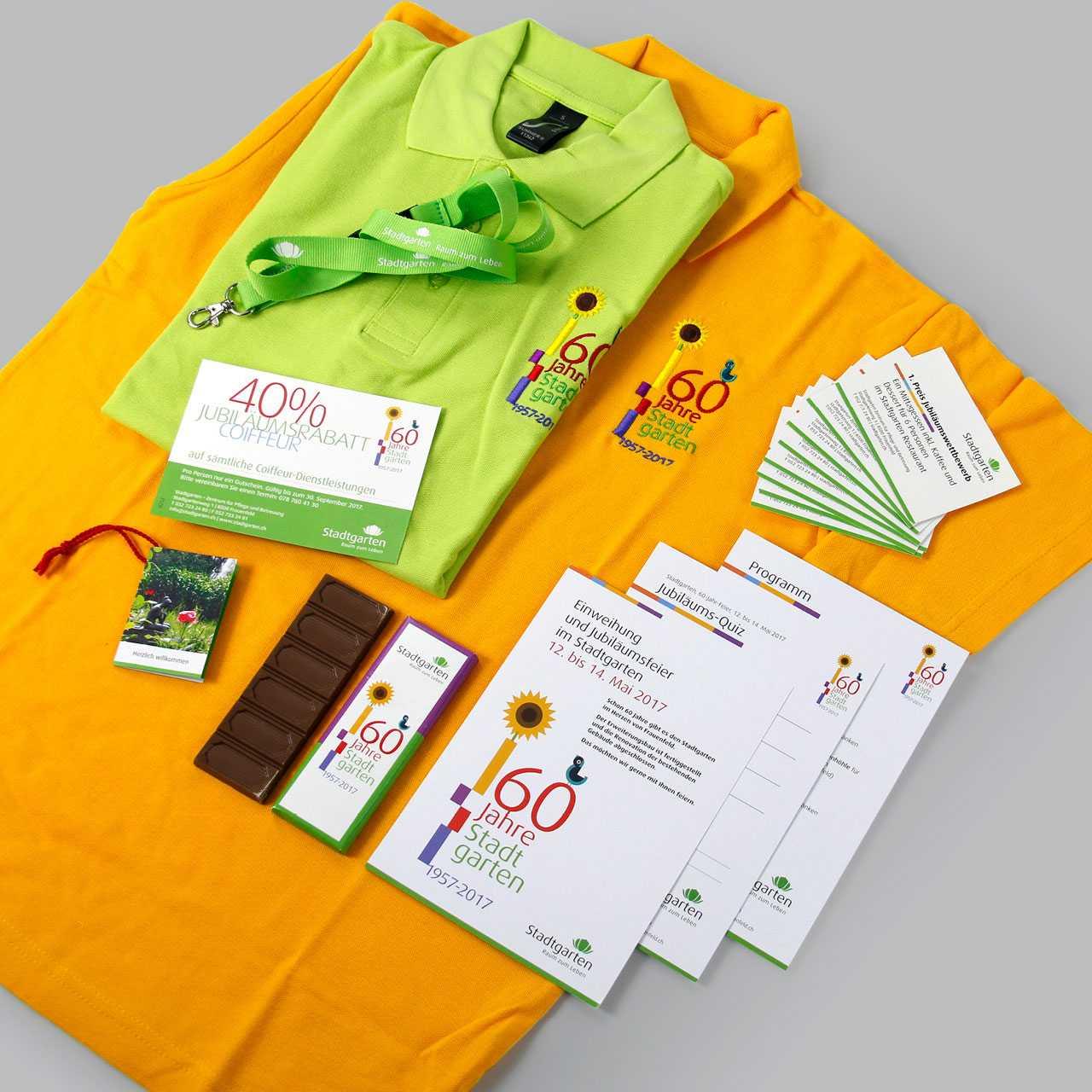 Pflegezentrum Stadtgarten: Diverse Printprodukte, Prospekte, Kleidung