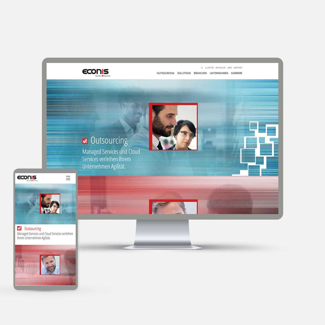 Econis AG, Redesign Website