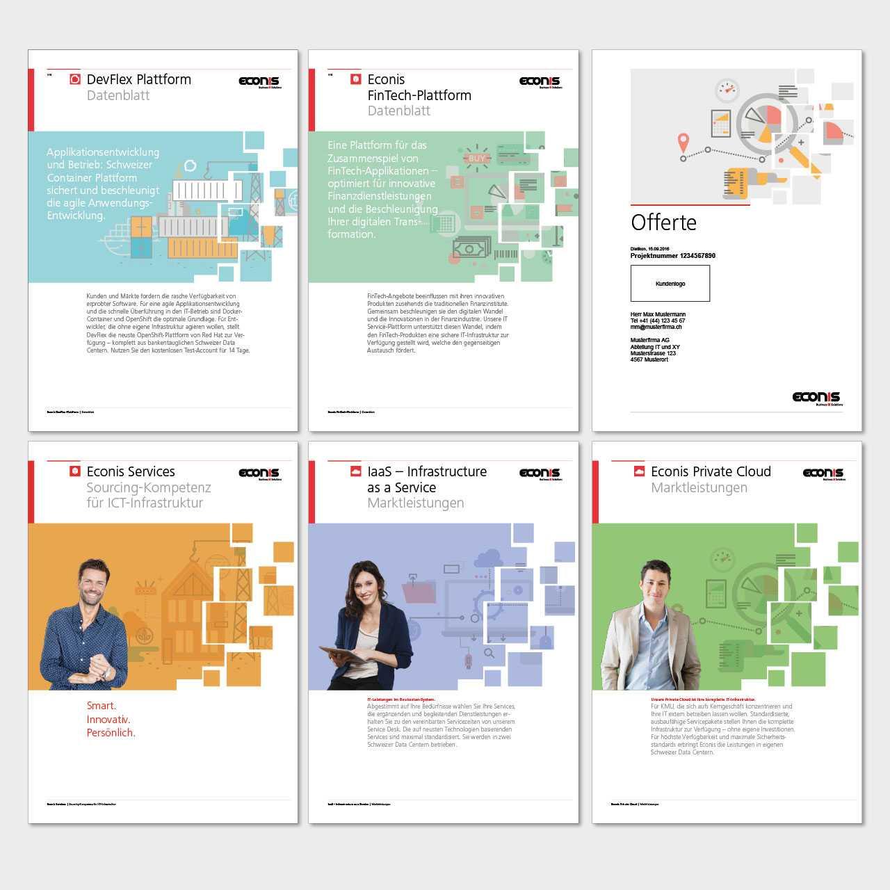 Econis AG Bildkonzept Broschüre
