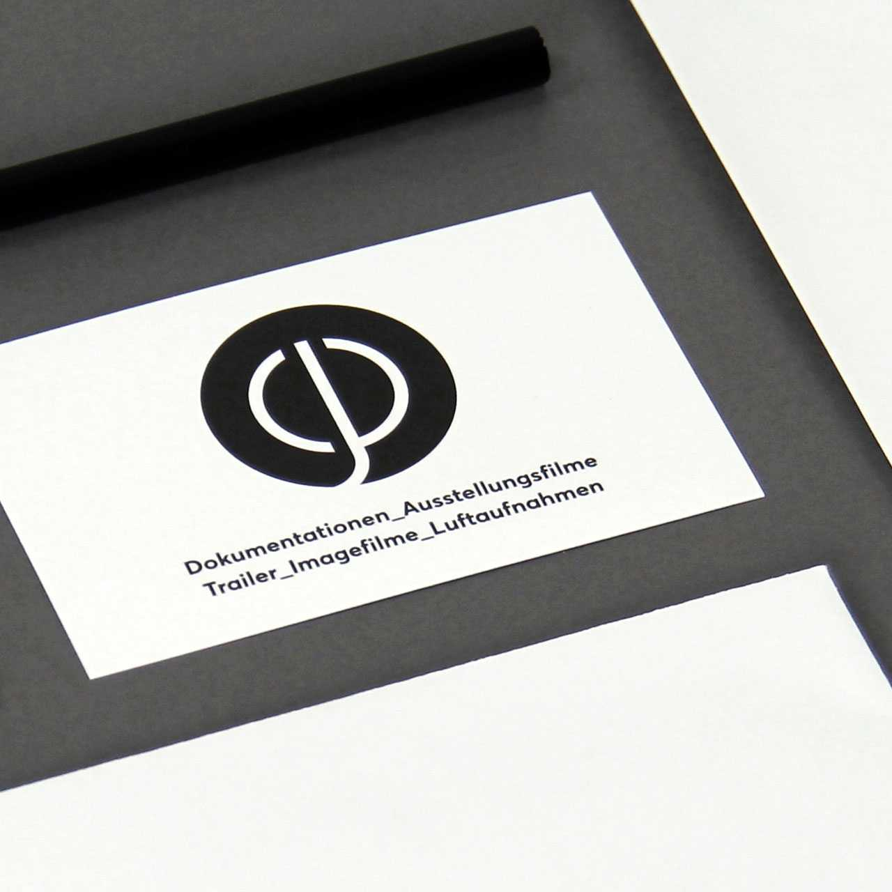 plattnerfilm.ch: Corporate Design, Visitenkarten