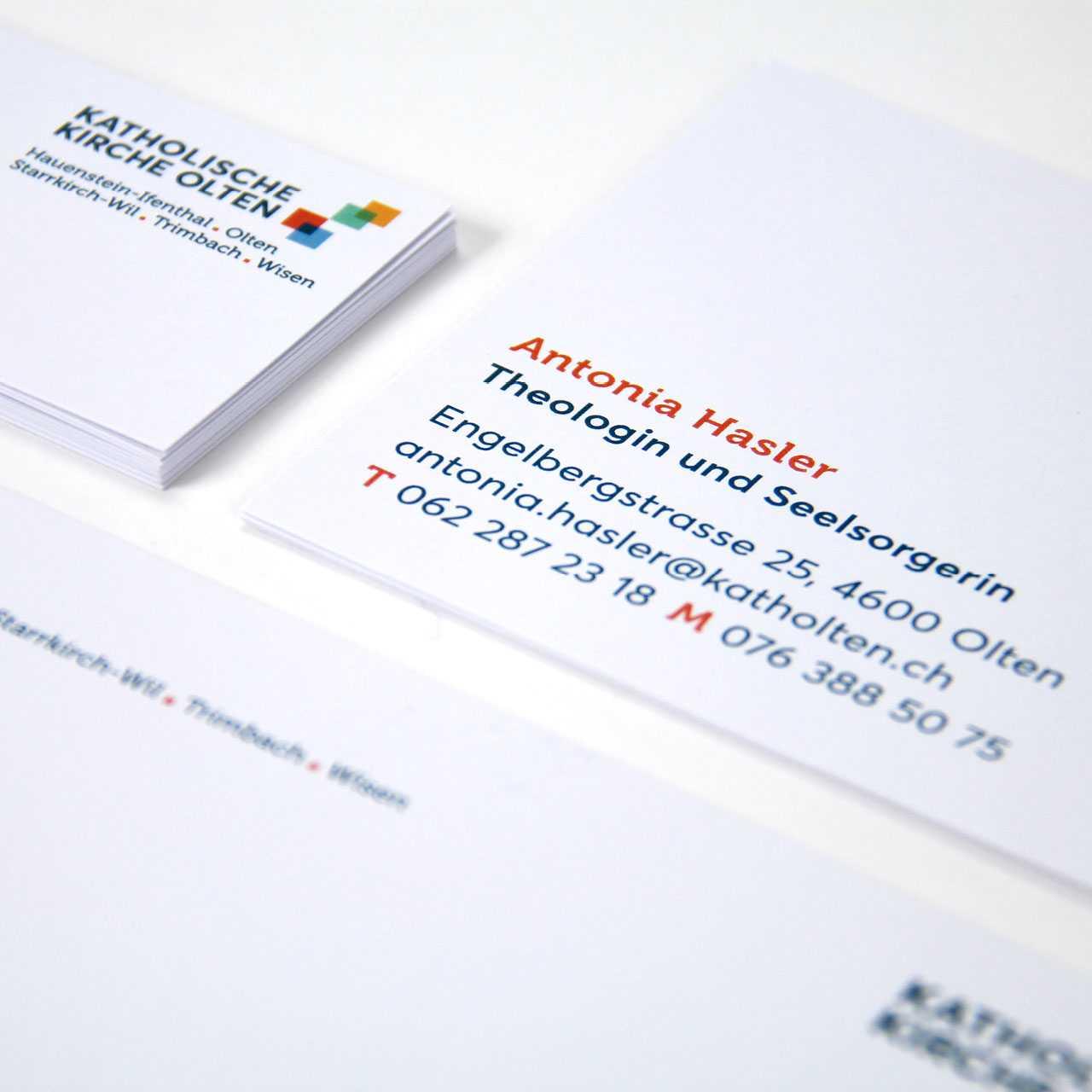 Katholische Kirche Olten: Corporate Design, Briefschaften
