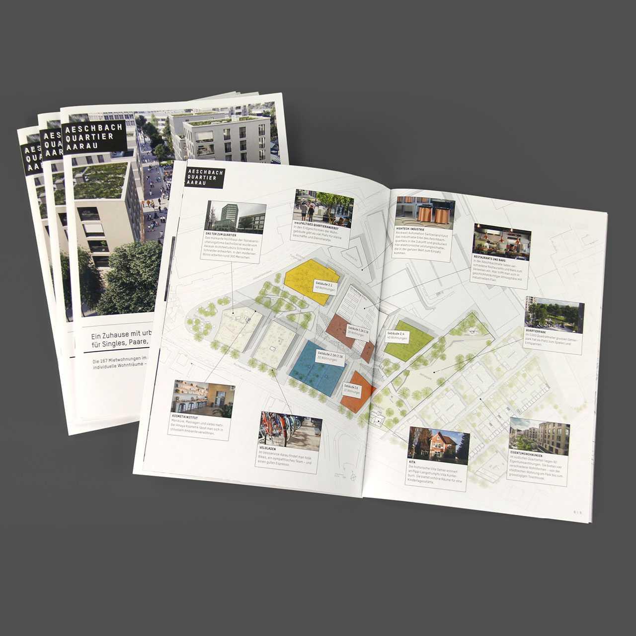 Aeschbachquartier Aarau by Mobimo AG: Corporate Design und Gesamtkommunikation