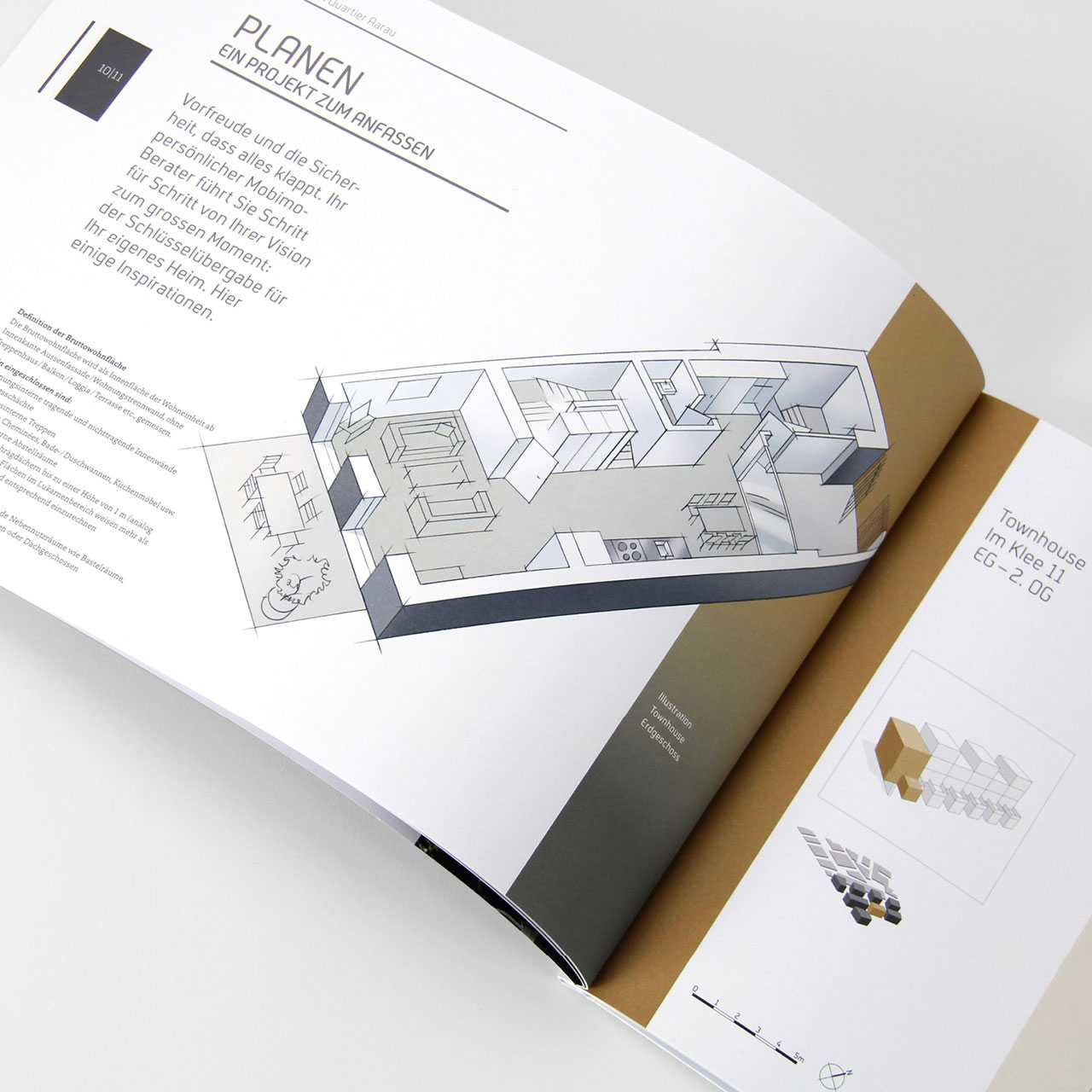 Aeschbachquartier Aarau by Mobimo AG: Printprodukte, Vermarktungsunterlagen