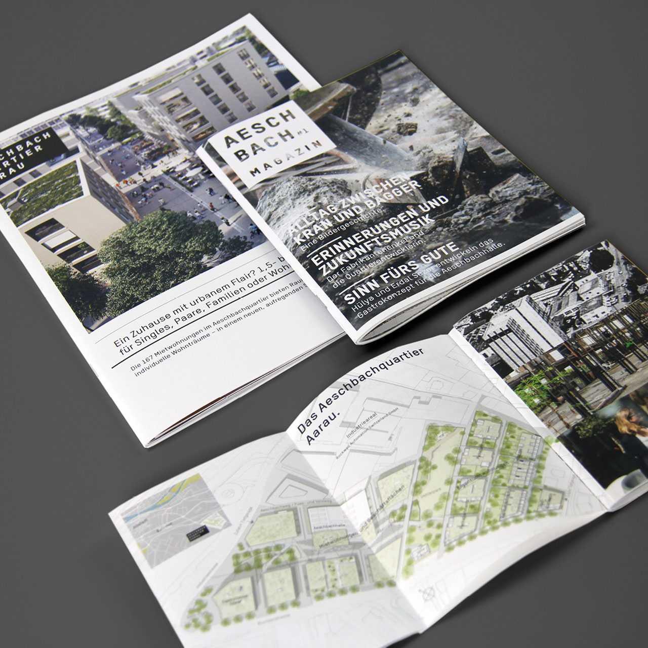Aeschbachquartier Aarau by Mobimo AG: Printprodukte, Aeschbachmagazin