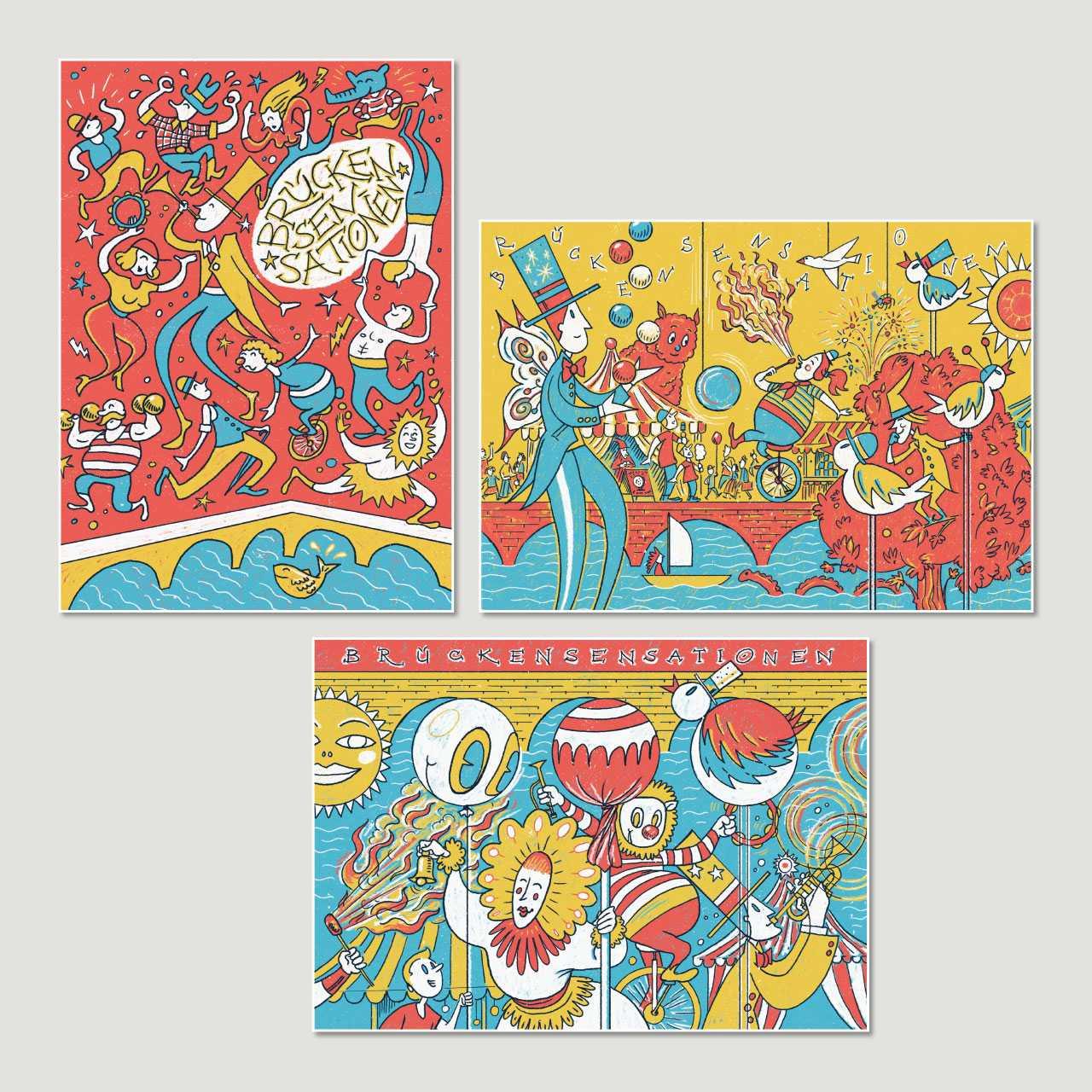 Kultur Rheinfelden: Postkarten «Brückensensationen»