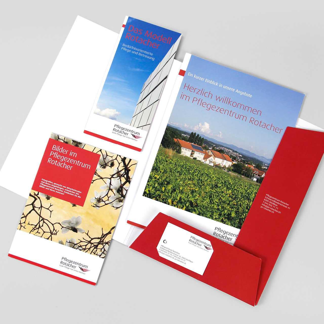 Pflegezentrum Rotacher: Diverse Flyer und Magazine