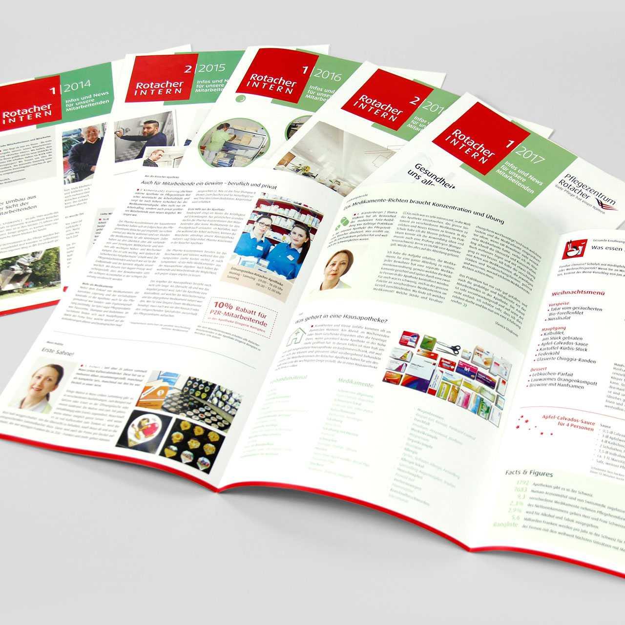 Pflegezentrum Rotacher: Mitarbeiter- und Kundenmagazin, Rotacher Intern