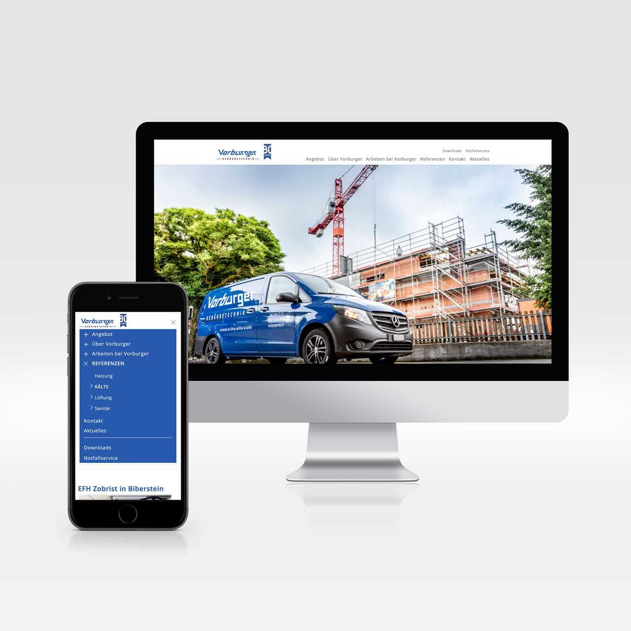 Vorburger AG, Redesign Website