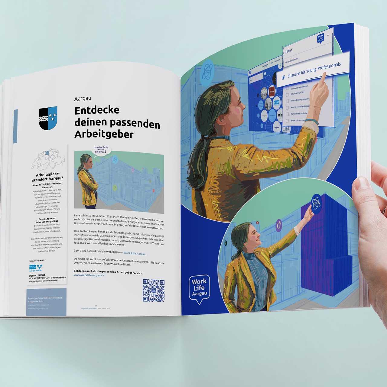 Magazin Illustration Worklife Aargau